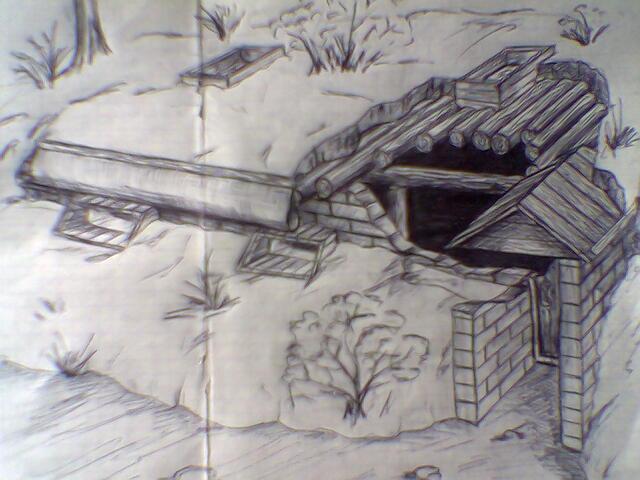 На картинке , нарисован